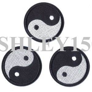 Other - NEW 3-PACK YING YANG SYMBOL BADGES IRON ON PATCHES